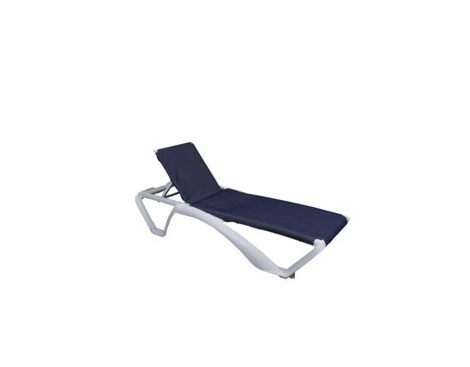 Marina Sunlounger White Denim