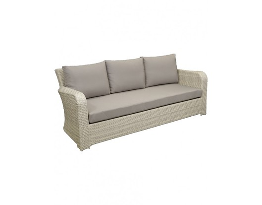 Barbados Three Seat Wicker Outdoor Lounge