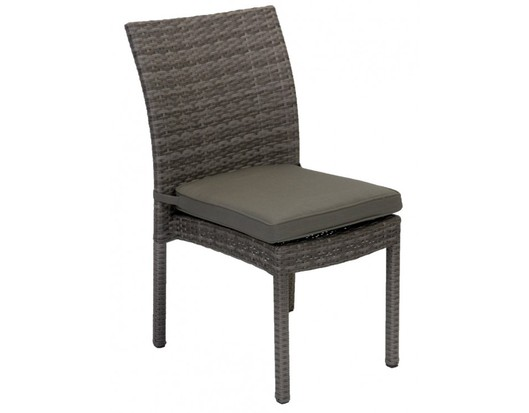 Iowa Armless Wicker Outdoor Dining Chair