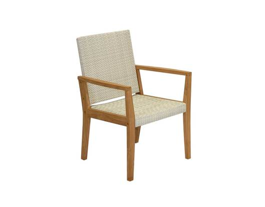 Calbri White Wicker Chair